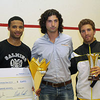 Adrian Grant winner at Double AR Rotterdam open squash 2013